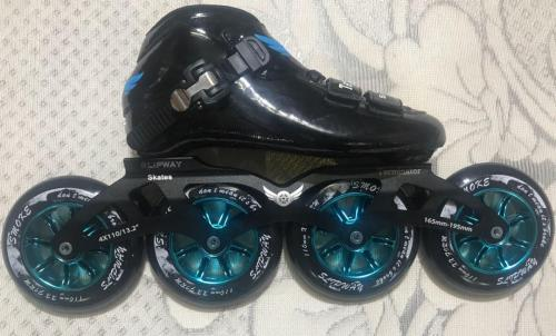 Complete Inline Skate Set With Smoke Wheels